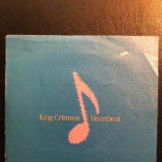 Discos de vinilo: KING CRIMSON SINGLE HEARTBEAT PROMO. Lote 133814802