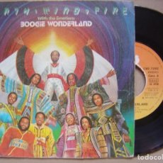 Discos de vinilo: EARTH WIND & FIRE WITH EMOTIONS - BOOGIE WONDERLAND - SINGLE 1979 - CBS. Lote 133827254