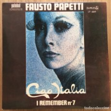 Discos de vinilo: FAUSTO PAPETTI I REMEMBER N 7 EDIC ESPAÑA MUY BIEN CONSERVADO. Lote 133828515
