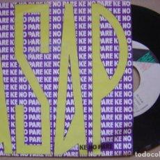 Discos de vinilo: ASAP - KE NO PARE SINGLE VERSION - SINGLE PROMOCIONAL 1992 - ENFASIS. Lote 133828726