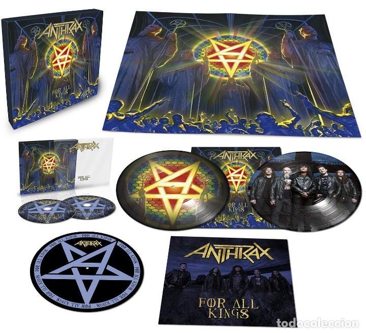 ANTHRAX * BOX SET SUPERDELUXE *2LP PICTURE + 2CD+POSTER+SLIPMAT * FOR ALL KINGS * CAJA PRECINTADA (Música - Discos - LP Vinilo - Heavy - Metal)