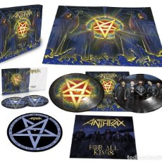 Discos de vinilo: ANTHRAX * BOX SET SUPERDELUXE *2LP PICTURE + 2CD+POSTER+SLIPMAT * FOR ALL KINGS * CAJA PRECINTADA. Lote 136216850