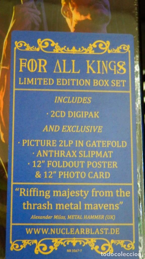 Discos de vinilo: Anthrax * BOX SET Superdeluxe *2lp picture + 2cd+poster+Slipmat * For All Kings * Caja Precintada - Foto 2 - 136216850
