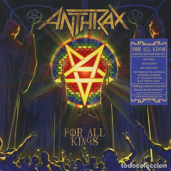 Discos de vinilo: Anthrax * BOX SET Superdeluxe *2lp picture + 2cd+poster+Slipmat * For All Kings * Caja Precintada - Foto 6 - 136216850