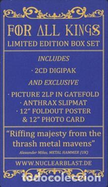 Discos de vinilo: Anthrax * BOX SET Superdeluxe *2lp picture + 2cd+poster+Slipmat * For All Kings * Caja Precintada - Foto 7 - 136216850