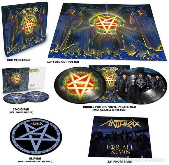 Discos de vinilo: Anthrax * BOX SET Superdeluxe *2lp picture + 2cd+poster+Slipmat * For All Kings * Caja Precintada - Foto 8 - 136216850