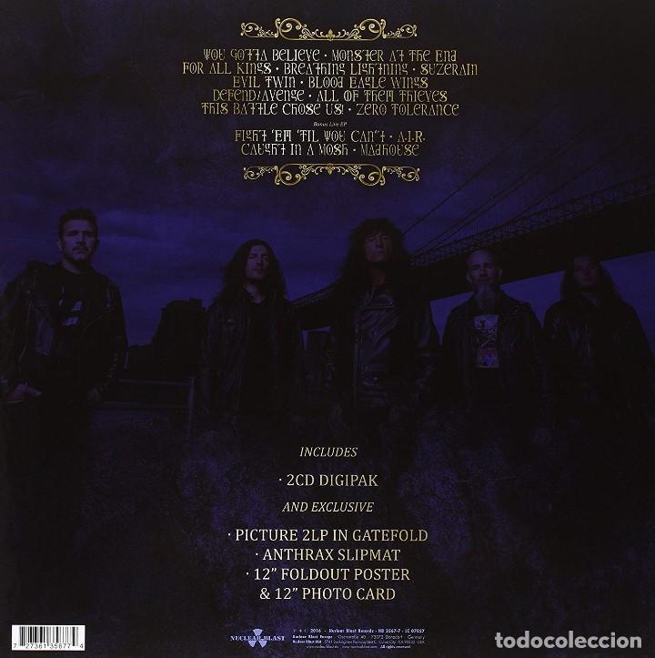 Discos de vinilo: Anthrax * BOX SET Superdeluxe *2lp picture + 2cd+poster+Slipmat * For All Kings * Caja Precintada - Foto 9 - 136216850