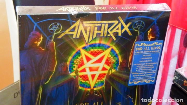 Discos de vinilo: Anthrax * BOX SET Superdeluxe *2lp picture + 2cd+poster+Slipmat * For All Kings * Caja Precintada - Foto 10 - 136216850
