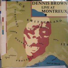 Discos de vinilo: DENNIS BROWN-LIVE AT MONTREUX. Lote 133837785