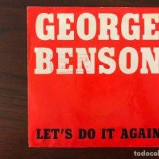 Discos de vinilo: GEORGE BENSON ?– LET'S DO IT AGAIN SELLO: WARNER BROS. RECORDS ?– 985 FORMATO: VINYL, 7 , 45 RPM . Lote 133838598