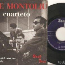 Discos de vinilo: TETE MONTOLIU Y SU CUARTETO EP VOLUMEN 1 SAEF 1958. Lote 133847078