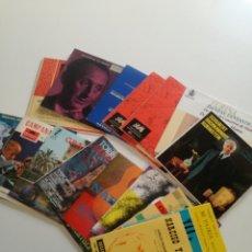 Discos de vinilo: LOTE 16 SINGLES // MUSICA CLASICA, RUBINSTEIN, NARCISO YEPES, TURINA, ALVENIZ... // VER FOTOS. Lote 133847206