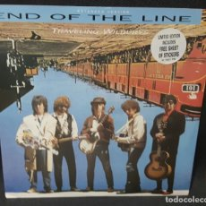 Discos de vinilo: TRAVELING WILBURYS - END OF THE LINE -MAXI- ADHESIVOS-UK- BOB DYLAN - BEATLES -TOM PETTY- JEFF LYNNE. Lote 133848190