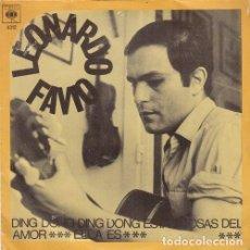 Discos de vinilo: LEONARDO FAVIO - DING DONG DING DONG ESAS COSAS DEL AMOR - SINGLE RARO DE VINILO . Lote 133851846