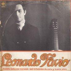 Discos de vinilo: LEONARDO FAVIO - FUISTE MIA UN VERANO - SINGLE RARO DE VINILO . Lote 133851926