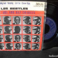 Disques de vinyle: RAY CHARLES LOS BEATLES QUE AMO RAY CH. EP SPAIN 1977 PEPETO TOP . Lote 133852834