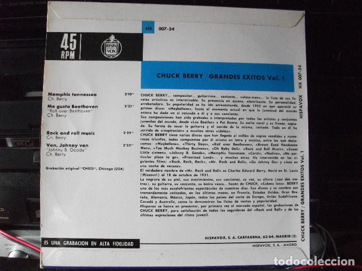 Discos de vinilo: CHUCK BERRY GRANDES EXITOS VOL. 1 EP SPAIN 1964 PEPETO TOP - Foto 2 - 133853362