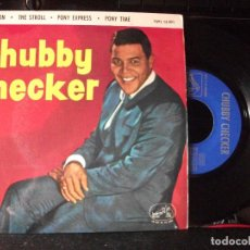 Discos de vinilo: CHUBBY CHECKER CHARLESTON / PONY TIME + 2 EP SPAIN 1963 PEPETO TOP . Lote 133853526
