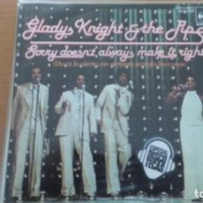 Discos de vinilo: GLADYS KNIGHT AND THE PIPS SORRY DOESN'T ALWAYS MAKE IT RIGHT SINGLE SPAIN. Lote 133860230