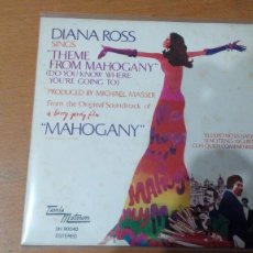 Discos de vinilo: DIANA ROSS MAHOGANY SINGLE SPAIN. Lote 133861238