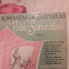 Discos de vinilo: ROMANZAS DE ZARZUELAS. PABLO SOROZABAL. VINILO. MAXI SINGLE.. Lote 133861745