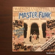Discos de vinilo: WATSONIAN INSTITUTE ?– MASTER FUNK SELLO: DJM RECORDS (2) ?– DJO 617 FORMATO: VINYL, 7 , 45 RPM, PRO. Lote 133863270