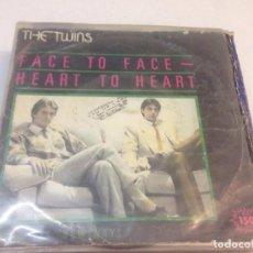 Discos de vinilo: THE TWINS - FACE TO FACE - HEART TO HEART (7-- SINGLE, PROMO). Lote 133865190