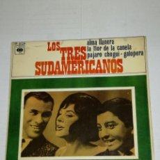 Discos de vinilo: LOS TRES SUDAMERICANOS EP ALMA LLANERA + 3. Lote 133892614