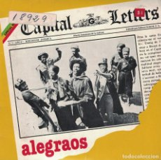 Discos de vinilo: CAPITAL LETTERS - ALEGRAOS / DADDY WAS NO MURDERER (SINGLE ESPAÑOL, GREENSLEEVES 1980). Lote 133895186