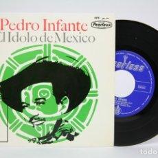 Discos de vinilo: DISCO EP DE VINILO - PEDRO INFANTE / CIELITO LINDO, EL RANCHERO - PEERLESS - AÑO 1964. Lote 133897251