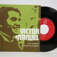 Discos de vinilo: DISCO EP DE VINILO - VICTOR MANUEL, EL COBARDE, EL TREN DE MADERA - BCD - AÑO 1970. Lote 133897595