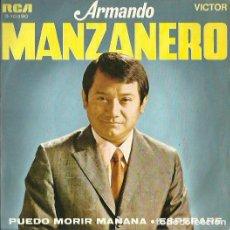 Discos de vinilo: ARMANDO MANZANERO. SINGLE. SELLO RCA VICTOR. EDITADO EN ESPAÑA. AÑO 1969. Lote 133898846
