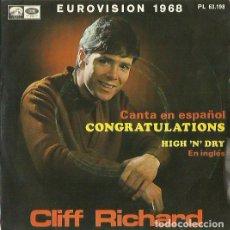 Discos de vinilo: CLIFF RICHARD (EN ESPAÑOL. SINGLE. SELLO LA VOZ DE SU AMO. EDITADO EN ESPAÑA. AÑO 1968. Lote 133902214