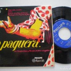Discos de vinilo: LA PAQUERA CON MORAITO CHICO Y DE JEREZ - ESTA RUBIA PANERA +3 - EP PHILIPS 1959. Lote 133912138