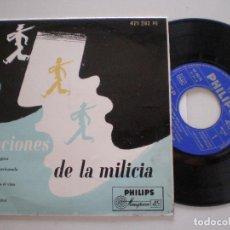 Discos de vinilo: CORO DE ESTUDANTES - CANCIONES DE LA MILICIA - EP PHILIPS 1950S. Lote 133912542