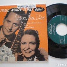 Discos de vinilo: LES APUL MARY FORD - VAYA CON DIOS +3 -EP USA CAPITOL 1950S. Lote 133913078
