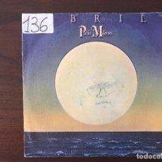 Discos de vinilo: PABLO MILANÉS ?– ABRIL / ANIVERSARIO SELLO: MOVIEPLAY ?– 02.1420/5 FORMATO: VINYL, 7 45 RPM. Lote 133916542