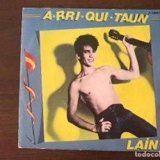 Discos de vinilo: LAÍN ?– A-RRI-QUI-TAUN SELLO: VIRGIN ?– A106647, VIRGIN ?– A-106.647 FORMATO: VINYL, 7 . Lote 133917298