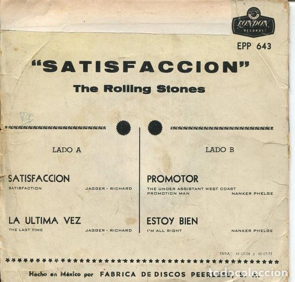 Discos de vinilo: THE ROLLING STONES - OUT OF OUR HEADS - EP - Edition Mexico - Foto 2 - 133926442