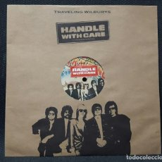 Discos de vinilo: TRAVELING WILBURYS - HANDLE WITH CARE - 10 PULGADAS-RARO- BOB DYLAN - BEATLES -TOM PETTY- JEFF LYNNE. Lote 133957018