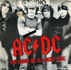 Discos de vinilo: AC/DC / YOU SHOOK ME ALL NIGHT LONG / HAVE A DRINK ON ME (SINGLE 1980). Lote 133964962