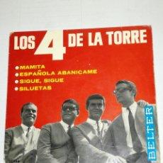 Discos de vinilo: LOS 4 DE LA TORRE EP MAMITA + 3. Lote 133966990