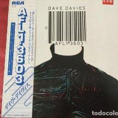 Discos de vinilo: OFERTA LP JAPON PROMO DAVE DAVIES - AFL1-3603. Lote 133970490