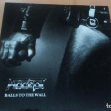 Discos de vinilo: ACCEPT BALLS TO THE WALL LP 1990. Lote 133978938