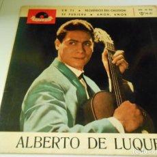 Discos de vinilo: ALBERTO DE LUQUE CON SARA COLLANTES, EP, EN TI + 3, AÑO 1963. Lote 133989730
