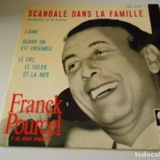 Discos de vinilo: FRANCK POURCEL Y SU GRAN ORQUESTA, EP, SCANDALE DANS LA FAMILLE + 3, AÑO 1965. Lote 133990630