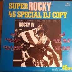 Discos de vinilo: MAXI PROMO JAPON SUPER ROCKY 45 SPECIAL DJ COPY - RAREZA. Lote 133994430