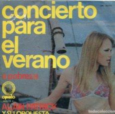 Discos de vinilo: ALAIN PATRICK / CONCIERTO PARA EL VERANO / A POBREZA (SINGLE 1971). Lote 133995086