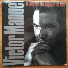 Discos de vinilo: VICTOR MANUEL - TE CUBRIRE CON SABANAS DE LUNA (SG) 1990. Lote 133998706