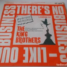Discos de vinilo: KING BROTHERS, EP, THERE´S NO BUSINESS LIKE SHOW BUSINESS + 3, AÑO 1967 MADE IN ENGLAND. Lote 134000850